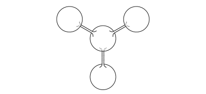 Membrane of fixed (spherical) topology mapped to multiple membranes connected by tubes in the target space