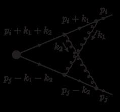 Two-loop crossed diagram.