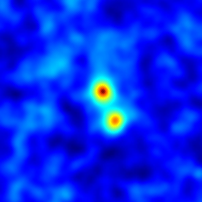 An association of two clusters at