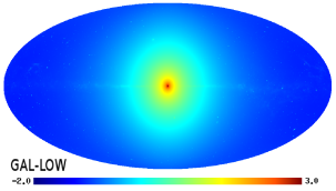 All-sky map of the galactic gamma-ray intensity (in units of cm