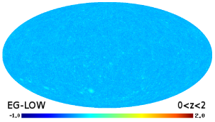 All-sky maps of the gamma-ray intensity (in units of cm