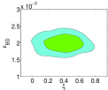 2-dimensional constraint of the cosmological and model parameters contours in the non-flat interacting GDE model in the BD theory with