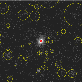 Typical examples of X-ray images for the low-redshift clusters (A85, A2163, and A2597 top to bottom). Left panel show the