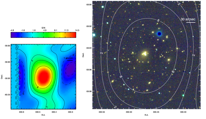 SPT-CL J2201-5956, also known as Abell 3827 and RXCJ2201.9-5956, at