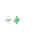 The octahedron obstruction, depicted on the right, is obtained from the octahedron with its eight triangular faces by adding 3 more faces of size 4 orthogonal to the three axis. If we add just one of these 4-faces to the octahedron, the resulting 2-complex is embeddable as illustrated on the left. A second 4-face could be added on the outside of that depicted embedding. However, it can be shown that the octahedron with all three 4-faces is not embeddable.