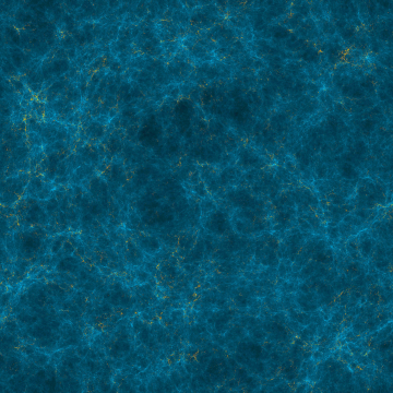 (left) Slice of the Cosmic Web at redshift