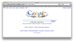 The Google search page at 'Jour J' — the LHC start-up, 10 September 2009.