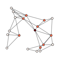 A sample time-varying network with