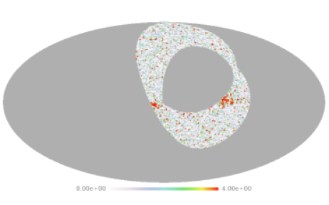 Map of the normalized squared polarized intensity