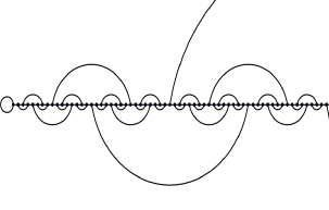 Depiction of HN3 on a semi-infinite line. The leftmost site here is