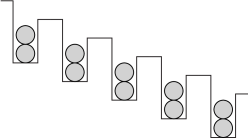 Schematic representation of the parent Mott insulating state with