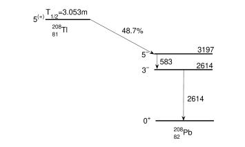Reduced decay scheme of