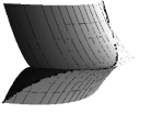 Cuspidal edges with boundary. The boundaries are drawn by thick lines, and the exteriors of the surfaces are drawn by thin colors. Left to right,