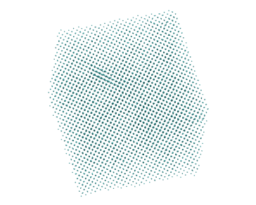 (Color on line) Configuration of 27648 ions at