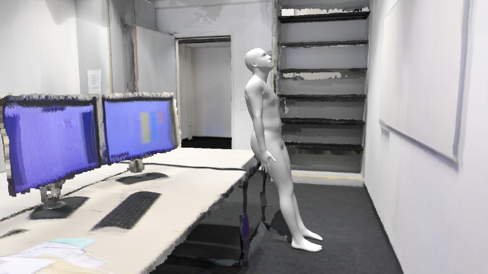Our method can localize and estimate the 3D pose of people performing activities as diverse as exercising, dancing, reading, sitting, eating, talking in a range of indoor and outdoor scenes, all