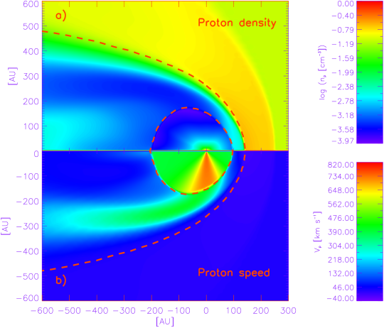 The basic features of the global heliospheric geometry according to the hydrodynamic (HD) models of