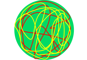 Cartoons for (a) fuzzball and (b) fuzzring solutions for two profile functions each. The green (shaded) region is the region in which the typical solutions differ very much from each other. The metric for typical states is similar outside the green (shaded) region. If one puts a stretched horizon on the green (shaded) region one gets a coarse grained entropy that goes like