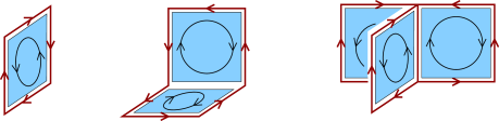 Examples of admissible configurations in the dual representation of the Z