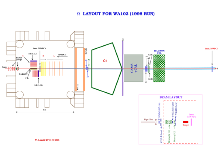 WA102 experiment using the CERN