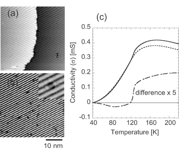 (a) An STM image of the sample with the Si(111)-4