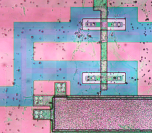 Additional optical micrographs of the E2V CCD250 chip.