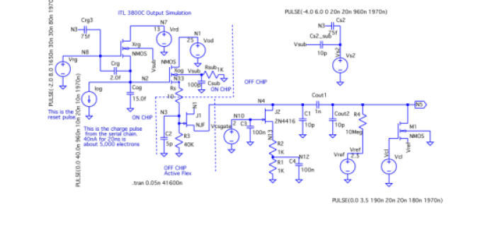 Schematic and netlist used in the simulation shown in Figure