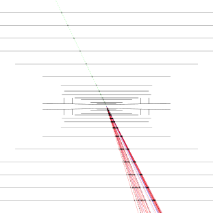 The proposed Si tracker for the CLIC detector. Left: