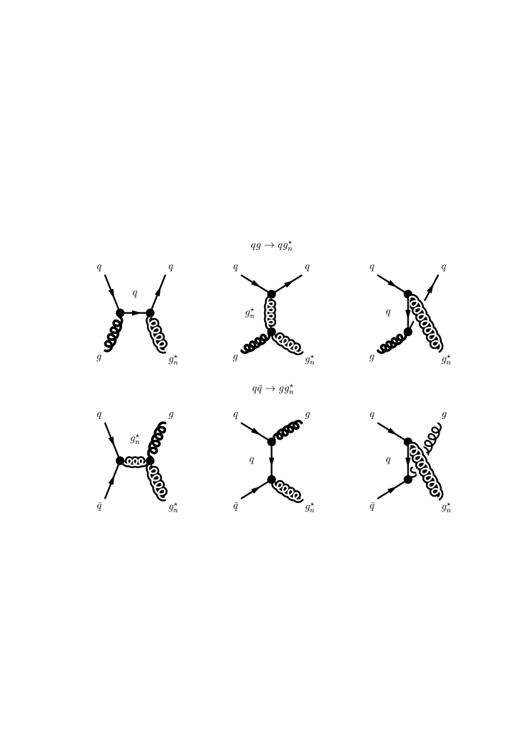 Diagrams involving the production of a single on-shell
