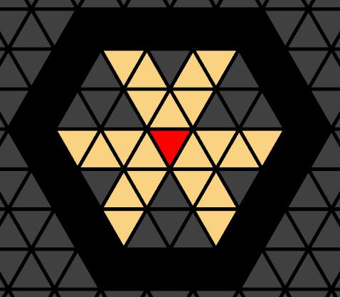 Light propagation for triangular grids.