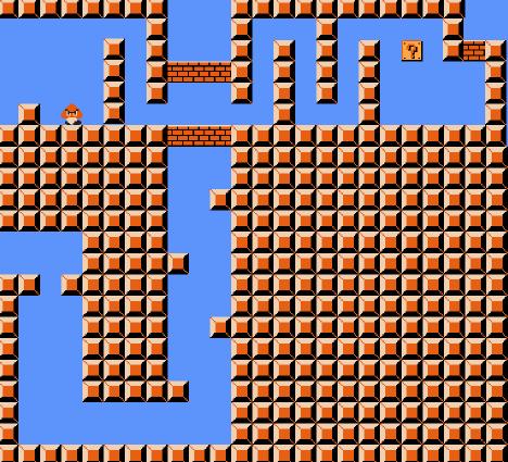 Crossover gadget for Super Mario Bros..