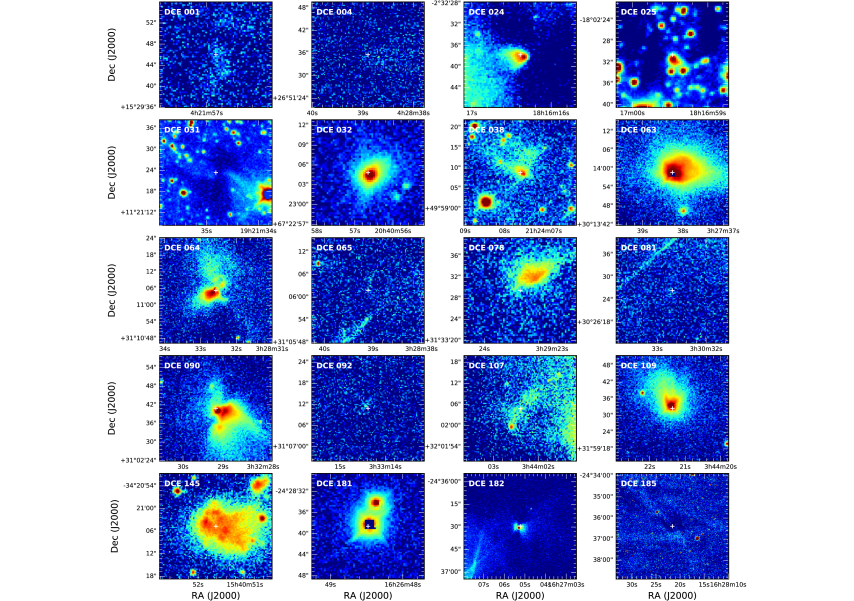 Ks-band images toward 20 LLO targets. The white cross indicates the source position from