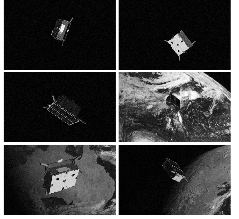 Sample images of the Tango satellite from SPEED