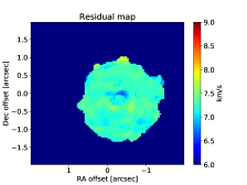 Left: Moment 1 map derived from the ALMA data of