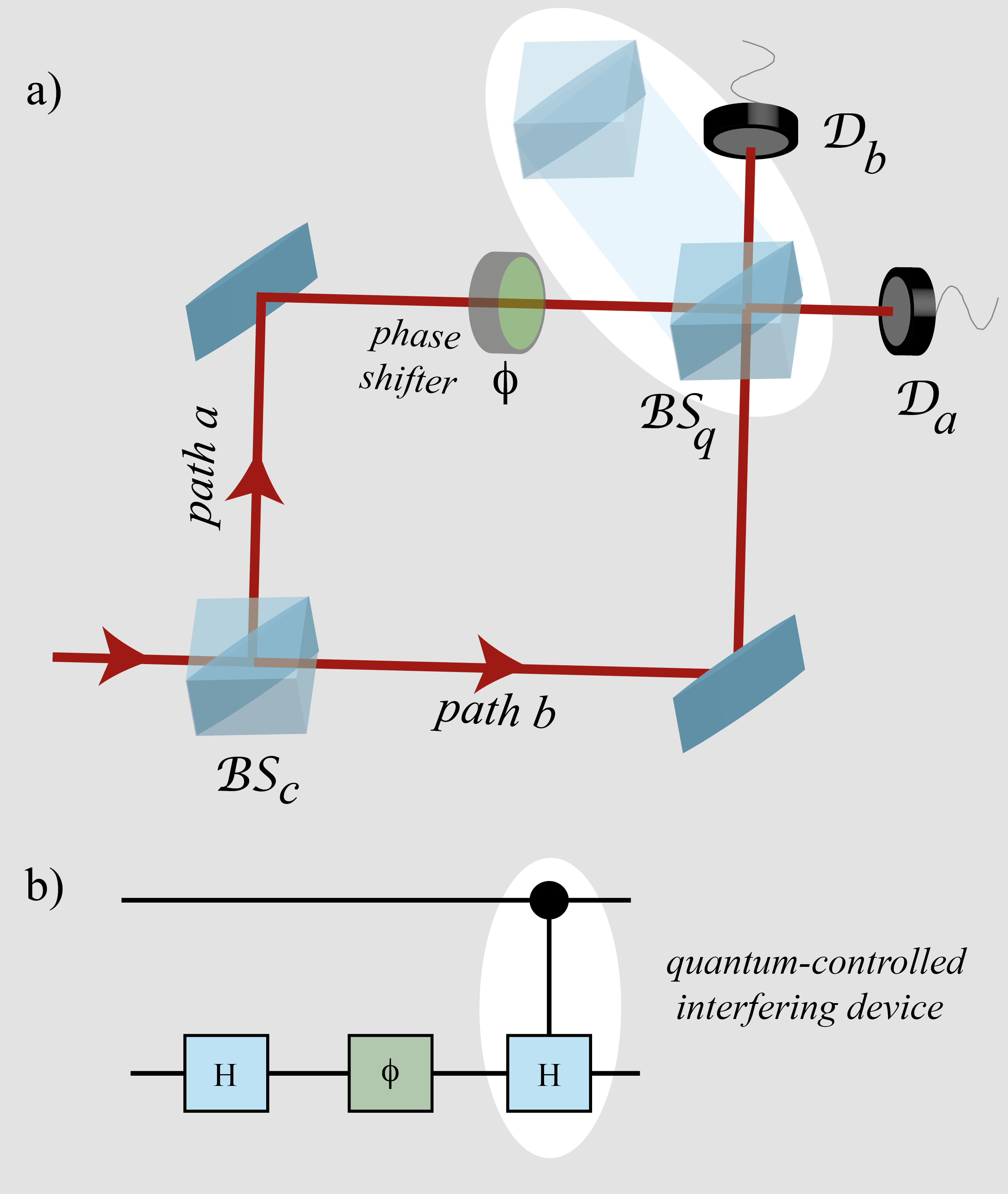 (a) Schematic diagram of the Mach-Zehnder interferometer with a