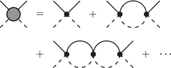 The geometric series of Feynman diagrams whose sum is the universal amplitude
