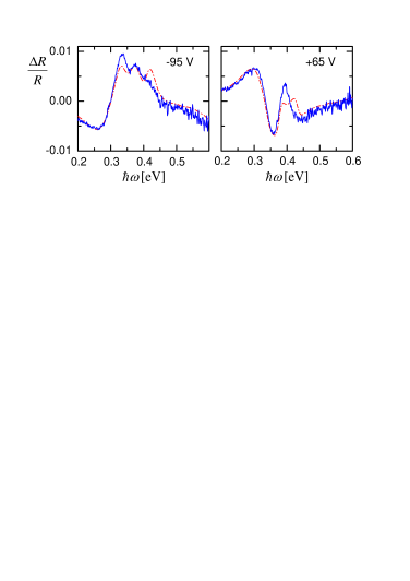 (color on-line) The experimental curves