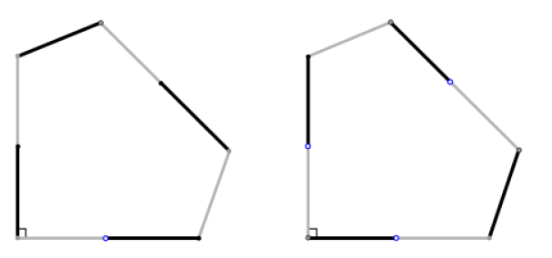 Gluing up the Euclidean polygons as shown gives a genus