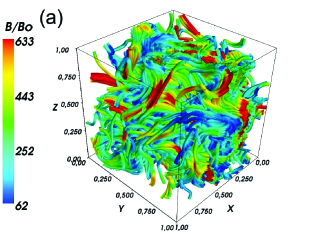Snapshots from the two simulations shown in Figure