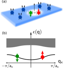 We propose a scheme for the measurement of many-body topological invariants of interacting states with topological order. It can be applied to measure the Chern numbers of Abelian quantum Hall states (for example of Laughlin type) and of their topological excitations, as illustrated in (a). An elementary excitation (here a quasihole) is coupled to a mobile two-component impurity. When the impurity is tightly bound to the quasihole, a topological polaron is formed. It can be labeled by its quasi-momentum