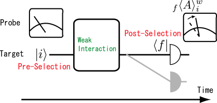 Schematic figure of the weak measurement.