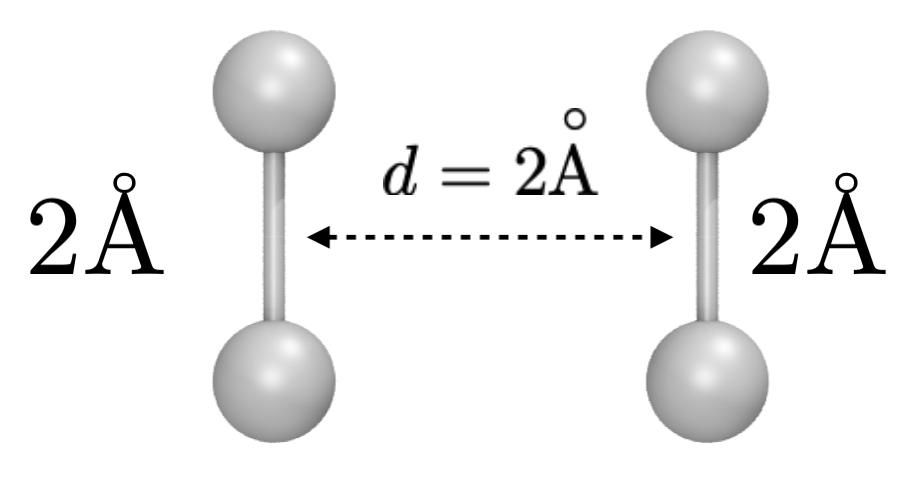 P4 molecule. The spheres represent hydrogen atoms.