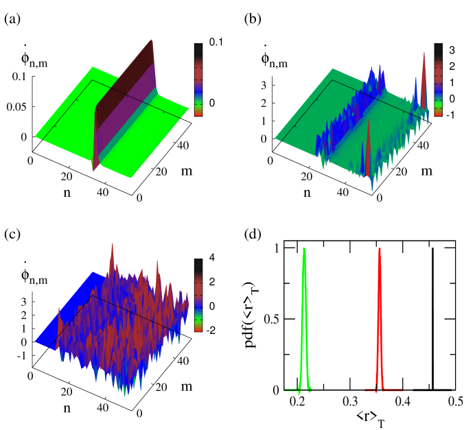 (Color online) Two-dimensional profiles of
