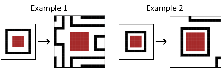 Execution of the algorithm without using stretch space.