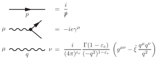 Feynman rules for massless RQED.