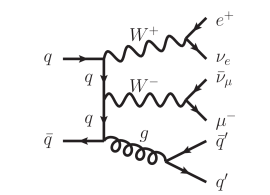Feynman diagrams of other processes contributing to the same final state as the VBF process.
