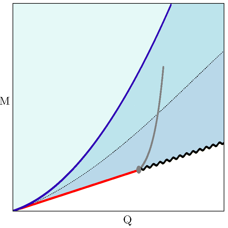 The proposed microcanonical phase diagram by Bhattacharyya