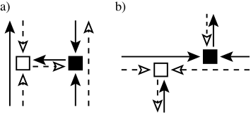 Examples of forbidden (a) and allowed (b) combinations of the building blocks shown in Fig.