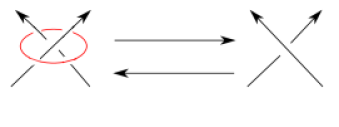 A crossing change is a