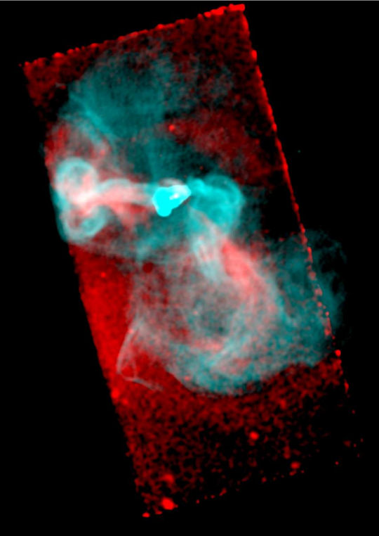 This figure combines the X-ray image (red) from Fig.
