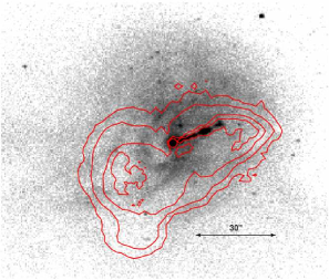 (a) The top left panel shows the central region of M87 as seen by the Chandra ACIS-S detector in the energy band 0.5 to 2.5 keV with a Gaussian smoothing of 1 pixel = 0.492